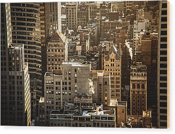 New York Cityscape Wood Print by Vivienne Gucwa