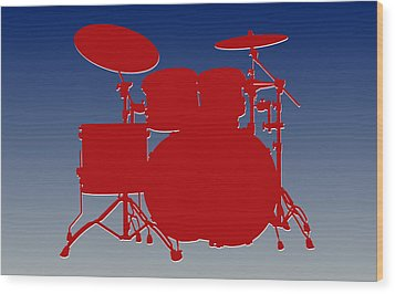 New York Giants Drum Set Wood Print by Joe Hamilton