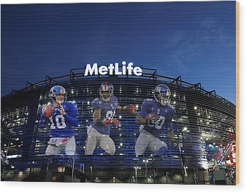 New York Giants Metlife Stadium Wood Print by Joe Hamilton