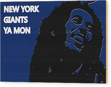 New York Giants Ya Mon Wood Print