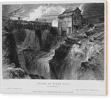 Wood Print featuring the painting New York Glens Fall, 1839 by Granger
