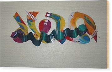 New York Graffiti Wood Print by Mac Worthington