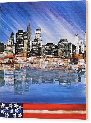New York Wood Print by Heather Matthews