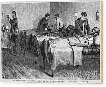 New York: Heatstroke, 1876 Wood Print by Granger