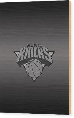 New York Knicks Wood Print by Paulo Goncalves