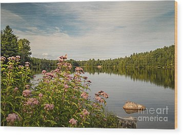 Wood Print featuring the photograph New York Lake by Debbie Green