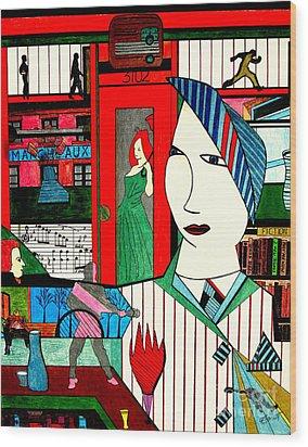 New York Life Wood Print