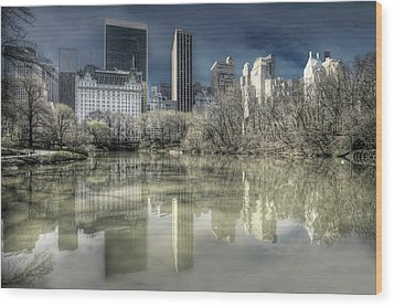 New York Manhattan Wood Print
