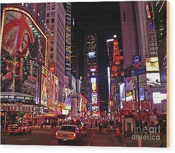New York New York Wood Print by Angela Wright