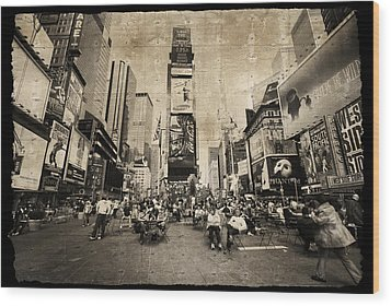 Wood Print featuring the photograph New York New York by Barbara Manis