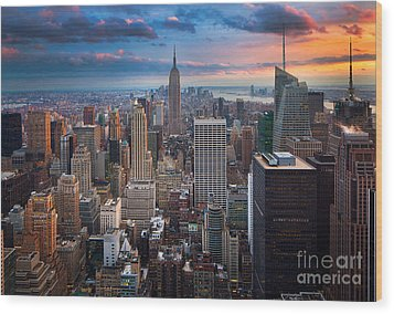 New York New York Wood Print