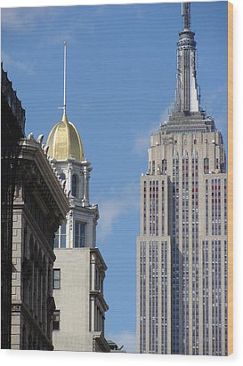 Wood Print featuring the photograph New York New York by Ira Shander