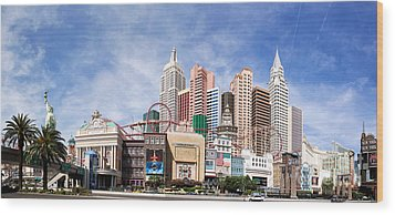 New York New York Las Vegas Wood Print by Jane Rix
