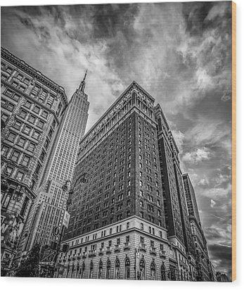 New York New York Wood Print by Shari Mattox