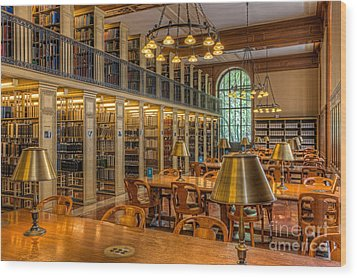 New York Public Library Genealogy Room I Wood Print by Clarence Holmes