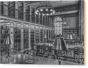 New York Public Library Genealogy Room II Wood Print by Clarence Holmes