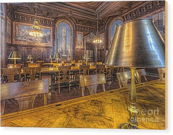 New York Public Library Periodicals Room IIi Wood Print by Clarence Holmes