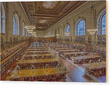 New York Public Library Rose Room  Wood Print by Susan Candelario