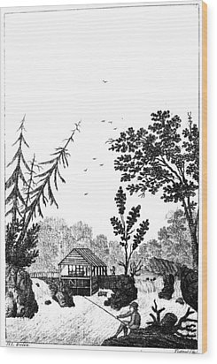New York Saw Mill, 1792 Wood Print by Granger