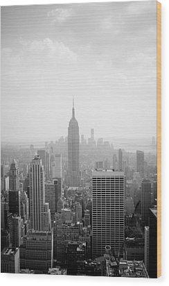 New York Skyline Wood Print by Allan Millora Photography
