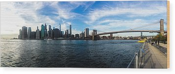 New York Skyline - Color Wood Print by Nicklas Gustafsson