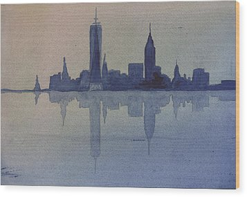 New York Skyline  Wood Print by Donna Walsh