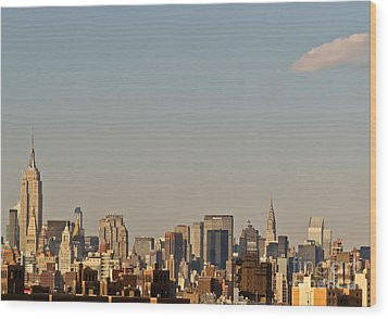 Wood Print featuring the photograph New York City Skyline by Kerri Farley