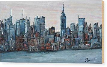 New York Skyline Wood Print by Michael  Accorsi