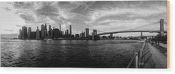 New York Skyline Wood Print by Nicklas Gustafsson