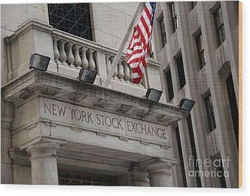 New York Stock Exchange Building Wood Print by Amy Cicconi