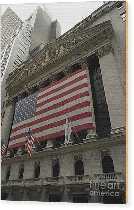 New York Stock Exchange Wood Print by David Bearden