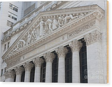 New York Stock Exchange I Wood Print by Clarence Holmes