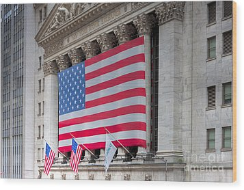 New York Stock Exchange IIi Wood Print by Clarence Holmes