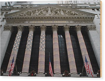 New York Stock Exchange Wood Print by Yue Wang