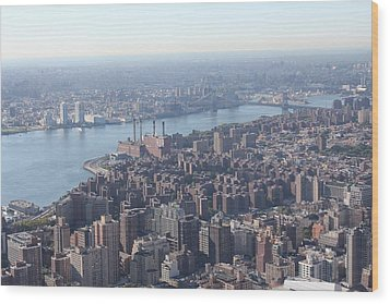 Wood Print featuring the photograph New York View by David Grant