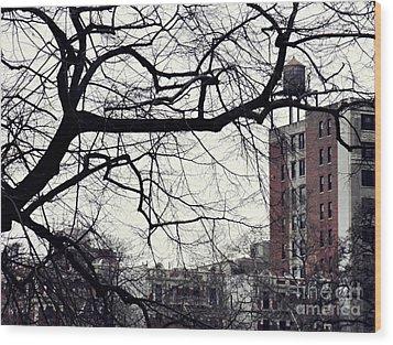 New York Winter Day 2 Wood Print by Sarah Loft