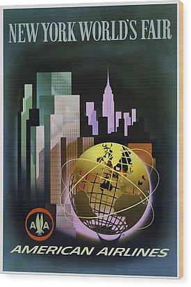 New York Worlds Fair Wood Print by Mark Rogan