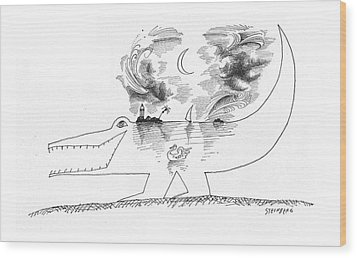 New Yorker April 21st, 1962 Wood Print by Saul Steinberg