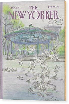 New Yorker April 6th, 1987 Wood Print