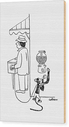 New Yorker August 26th, 1944 Wood Print by Sam Cobean