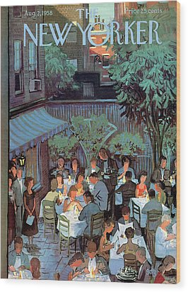 New Yorker August 2nd, 1958 Wood Print by Arthur Getz