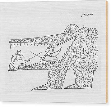 New Yorker December 10th, 1960 Wood Print by Saul Steinberg