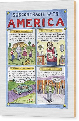 New Yorker January 16th, 1995 Wood Print by Roz Chast