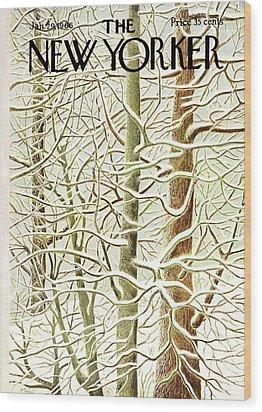 New Yorker January 29th, 1966 Wood Print by Ilonka Karasz