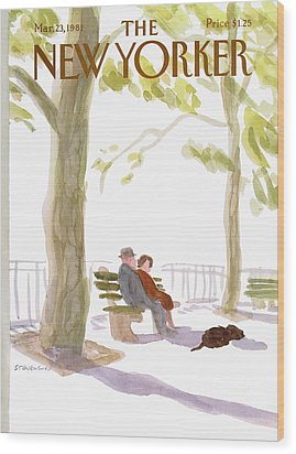 New Yorker March 23rd, 1981 Wood Print by James Stevenson