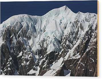 Wood Print featuring the photograph New Zealand Mountains by Amanda Stadther