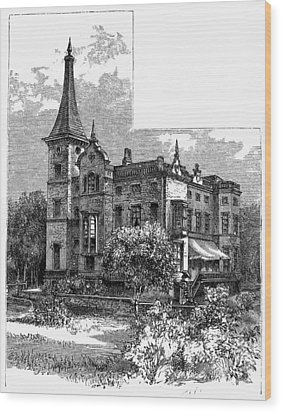 Newark Kearny Mansion Wood Print by Granger