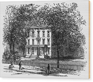 Newark Mansion, 1876 Wood Print by Granger