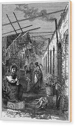 Newark Market, 1876 Wood Print by Granger