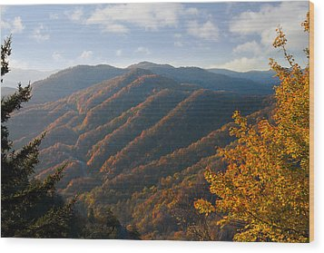 Newfound Gap Wood Print